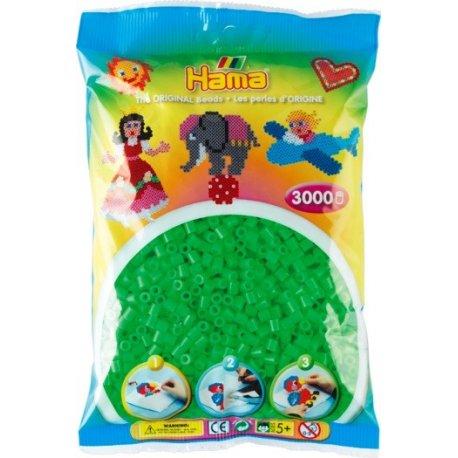 Hama Midi - zielone fluorescencyjne