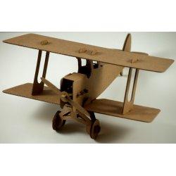 Tekturowy Samolot Dwupłatowiec - Leolandia