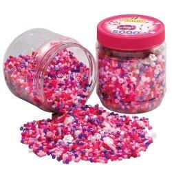 Hama 2078 - 5000 Koralików Hama Midi Różowej Tubie
