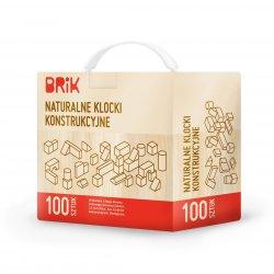 Naturalne drewniane klocki konstrukcyjne BRIK - 100 szt.