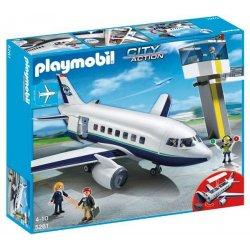 Playmobil 5261 - Samolot Pasażerski z Wieżą Kontrolną