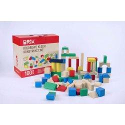Kolorowe Drewniane Klocki BRIK 100szt - Drewniane zabawki