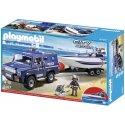 Playmobil 5187 - Pojazd terenowy policji z motorówką