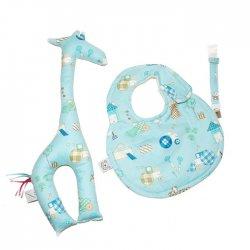 Zestaw dla niemowlaka -Boska Tediies, niebiesko-zielony