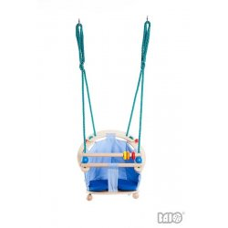 Bajo 52040 - Huśtawka Drewniana dla Dzieci Domowa