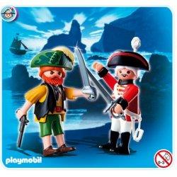 Playmobil 4127 - Duo Pack Pirat Żołnierz Czerwonych Kurtek