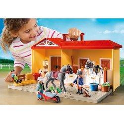 Playmobil 5348 - Nowa Przenośna Stajnia Koni