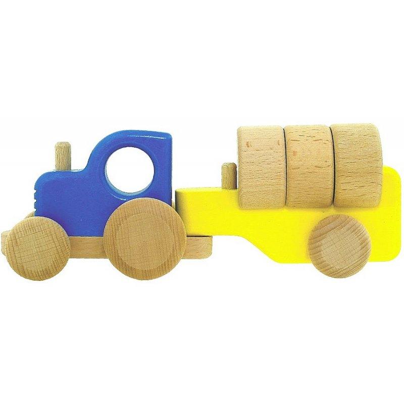 Bajo 43110 - drewniany traktor z belkami