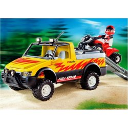 Playmobil 4228 - Pick-Up z quadem wyscigowym - City Life