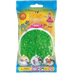 Hama 207-37 - Kolor NEON ZIELONY - 1000 koralików