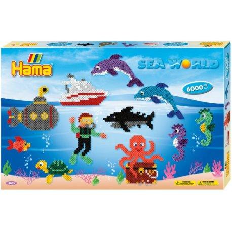 Hama 3035 - WODNY ŚWIAT - koraliki midi w pudełku