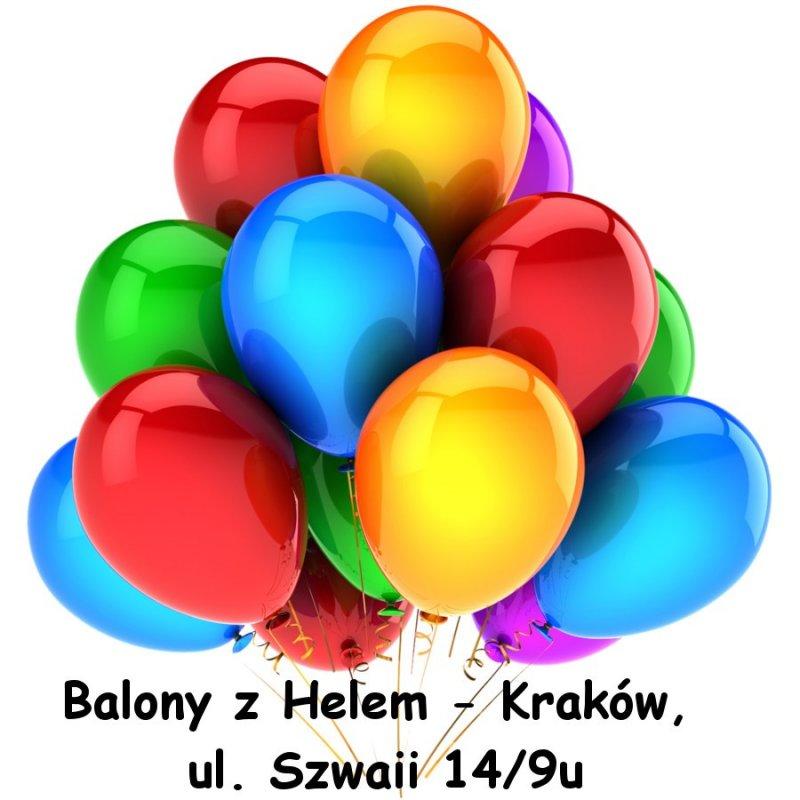 Napełnianie balonów helem - Kraków 3.00 zł/szt