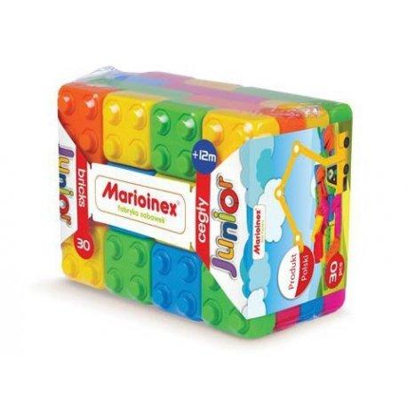 Klocki Cegły Junior 30 elementów - Marioinex