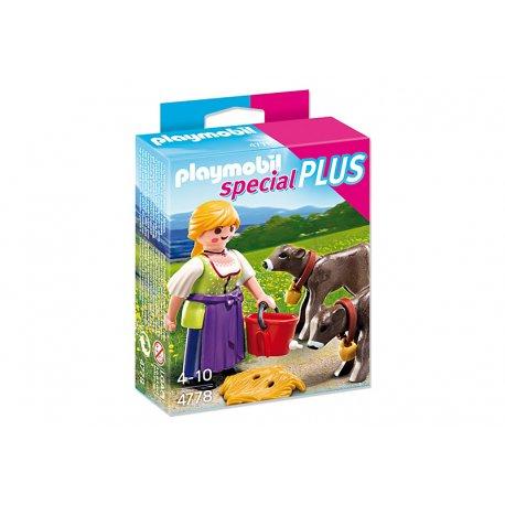 Playmobil 4778 - Gospodyni z cielakami