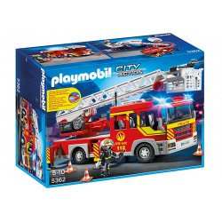 Playmobil 5362 - Samochód strażacki z drabiną, światłem i dźwiękiem