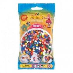 Hama 207-00 - 1000 koralików midi, różne kolory