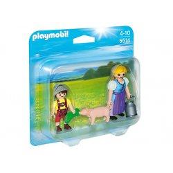 Playmobil 5514 - Figurki Duo Pack Gospodyni, Chłopczyk, Świnka