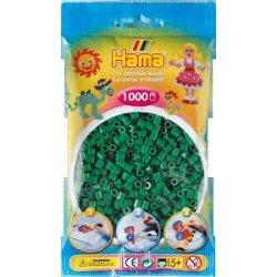 Hama 207-10 - Kolor ZIELONE - 1000 koralików