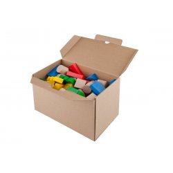 Kolorowe klocki drewniane, 100szt - Lupo Toys