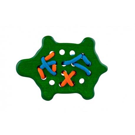 Drewniana Przeszywanka Żółw - Lupo Toys