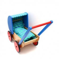 Drewniany wózek dla lalek - Bajo 74110