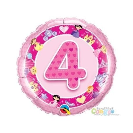 Balon urodzinowy z helem - różowa Piątka
