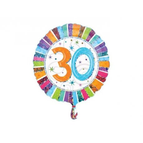 Balon urodzinowy z helem - 30te urodziny
