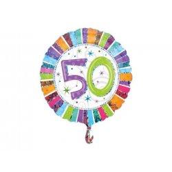 Balon urodzinowy z helem - 50te urodziny