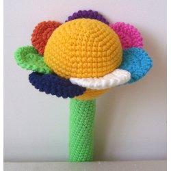 Grzechotka kwiatuszek - handmade