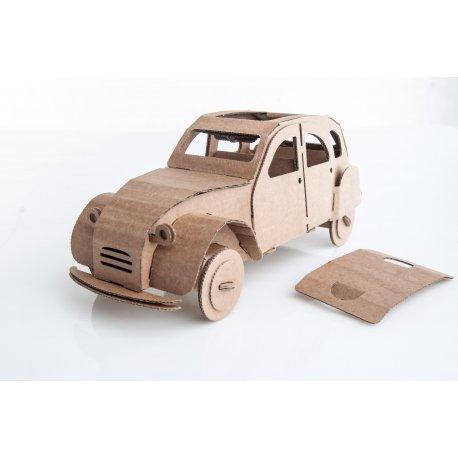 Cytrynka, samochód z tektury - Leolandia