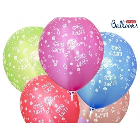 Balon Sto Lat - lateksowy, różne kolory