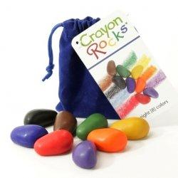 Kredki Crayon Rocks 8 Kolorów w Aksamitnym Woreczku