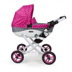 Wózek dla lalki - głęboki - Pink & Grey