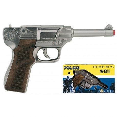 Policyjny pistolet na kapiszony - METAL (8 kapiszonów)