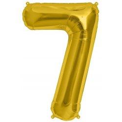 """Balon Foliowy 34"""" Cyfra 7 ZŁOTY - na Hel"""