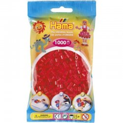 Hama 207-05 - czerwone, dodatkowe koraliki midi