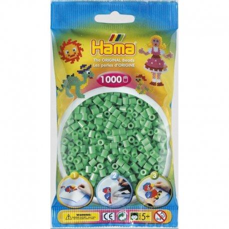Hama 207-11 - jasno zielone koraliki midi