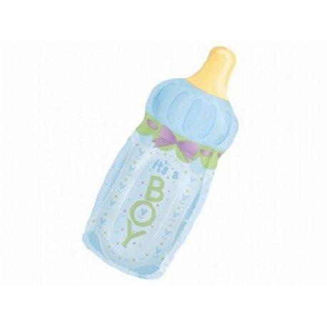 Balon w kształcie butelki - narodziny chłopczyka