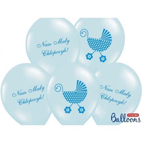 Balon Nasz Mały Chłopczyk - lateksowy, niebieski