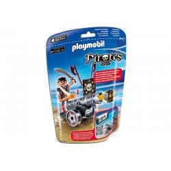 Playmobil 6165 - Czarna armata z aplikacją i piratem