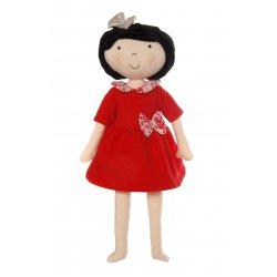 Lalka Hania - Szatynka w czerwonej sukience