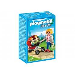 Playmobil 5573 - Wózek dla Bliźniaków z Figurkami