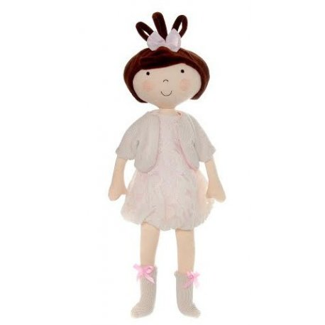 Lalka Hania brunetka - Koronkowa sukienka
