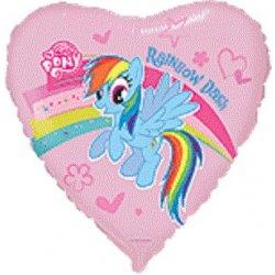 "Balon foliowy serce 18"" My Little Pony"