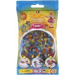 Hama 207-53 - Dodatkowe Koraliki midi, 1000szt, mix transparent