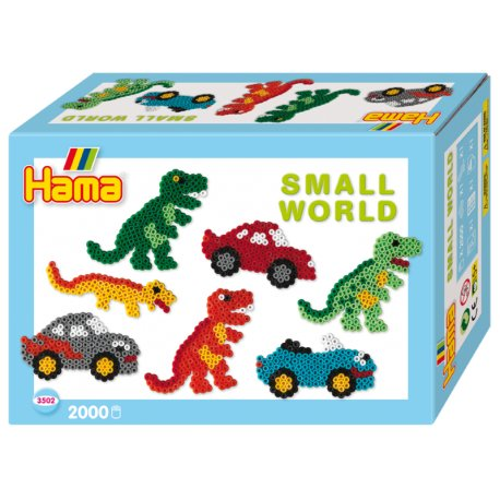 Hama 3502 - Small world - Dinozaury i Auta