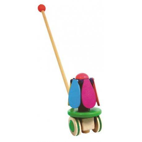 Kwiat na patyku, zabawka do pchania, Bajo 24510