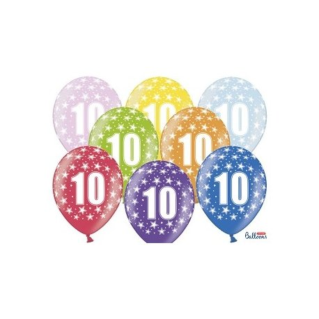 Balon 30cm Ósemka - lateksowy, różne kolory