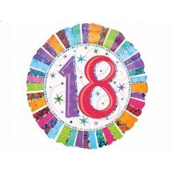 Balon urodzinowy z helem - 18te urodziny