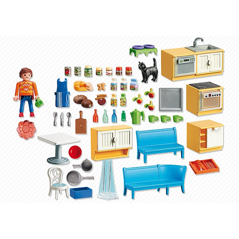 playmobil 5336 kuchnia z k cikiem jadalnym serii city life. Black Bedroom Furniture Sets. Home Design Ideas